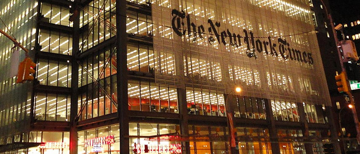 New York Times Building At Night - The Out Of My Mind Blog